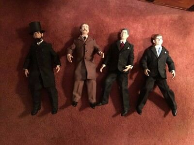 Lot of 4 United States President Talking Dolls Kennedy Lincoln Used