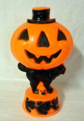 Empire Blow Mold Cat Jack o'Lantern Witch Skull Lighted Decoration
