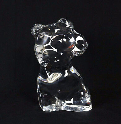 BACCARAT $2,460 Clear Crystal NUDE SERIES Female Torso Sculpture