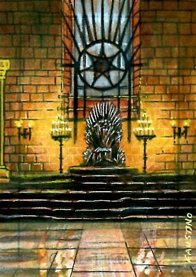 Game Of Thrones Valyrian Steel ARTIST SKETCH card JIM FAUSTINO - THE IRON THRONE