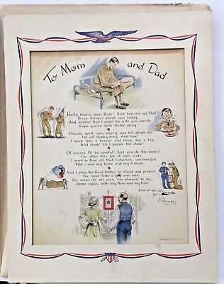 """Home Front Item:   """"To Mom and Dad"""" from a U.S. Army WAC"""