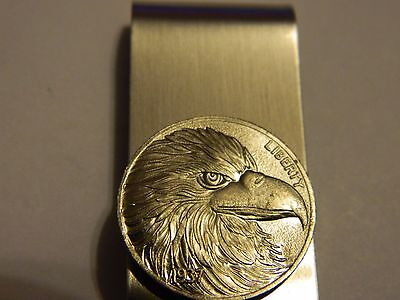 Liberty Eagle Coin Money Clip Stainless Steel --- Lot #3403