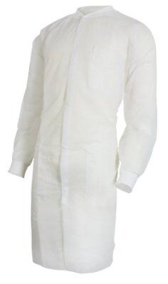 McKesson Lab Coat, White, Small / Medium, Long Sleeve, Knee Length, Case of 30