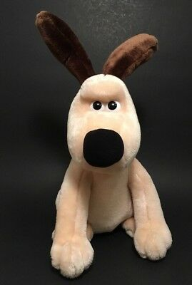 Gromit Dog Plush Grumpy Frowning Face Born to Play 1989 Vintage Wallace Cute
