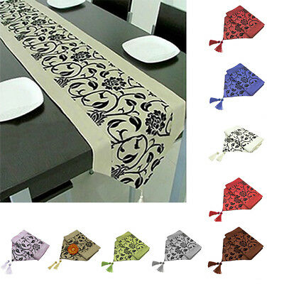 New Elegant Fashion Table Runner Embroidered Floral Fabric Table Cloth