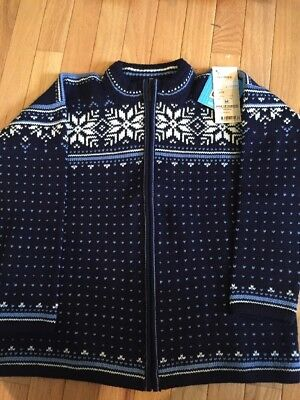 NWT Dale of Norway Kids Sweater Blue  100% New Wool 10