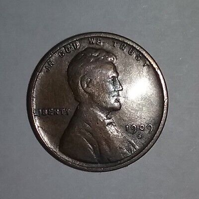 1909 S VDB 1C Lincoln Cent Wheat Penny