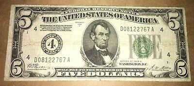 1928A $5 Federal Reserve Note! Cleveland, OH! Bold Green Seal! Numerical!