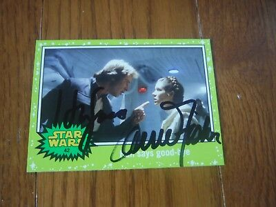 Harrison Ford & Carrie Fisher Autographed Star Wars Card Hand Signed
