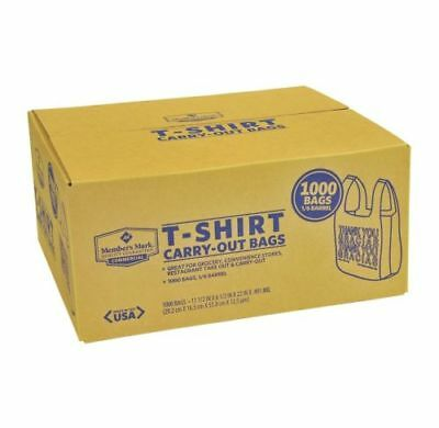 Member's Mark T-Shirt Carry-Out Bags 1000 ct. New
