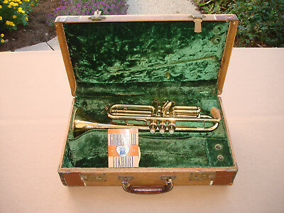 Elkhart Bb Cornet Built by Buescher Plays Great with Mouthpiece & Case 27336