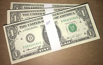HUGE LOT! 218 UNCIRCULATED $1 Federal Reserve Notes! Varied Dates, 1974-2003A