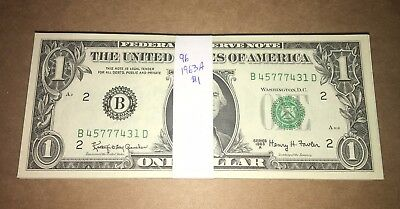 HUGE LOT! 96 UNCIRCULATED 1963A $1 Federal Reserve Notes!