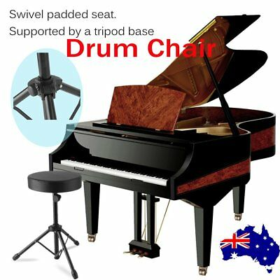 Drum Stool Chair Throne Piano Foldable Music Guitar Keyboard Padded Seat RO