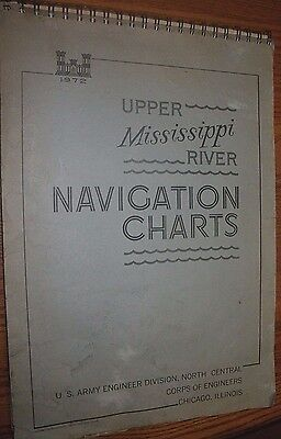 Vintage 1972 Navigation Charts Upper Mississippi US Army Corp of Engineers