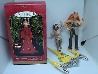 STAR WARS Collectible Hallmark Ornaments! Set of 4! 1999 AWESOME!!