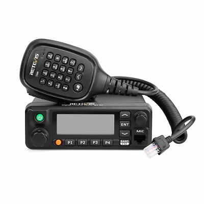 Retevis RT90 DMR Dual Band Standby Display Digital 50W Mobile Car Radio+Cable