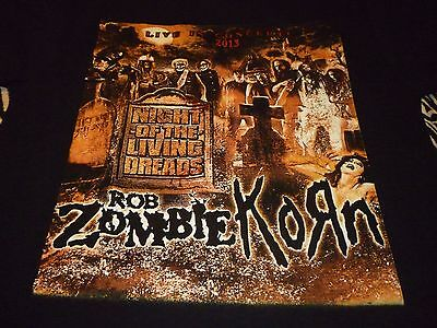 Rob Zombie / Korn Tour Shirt ( Used Size M ) Very Nice Condition!!!