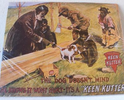 E C Simmons Keen Kutter The Dog Doesn't Mind Picture Advertising Poster
