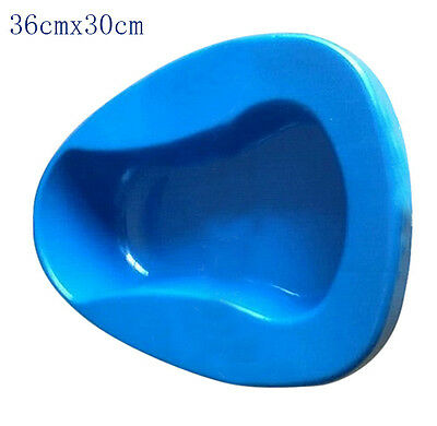 Plastic Bed Pan Bathroom Bedpan Smooth Contour Shape Heavy Duty Personal Care DA
