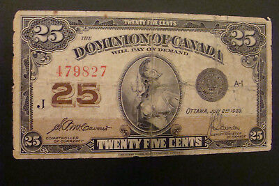 Dominion Of Canada 25 Cents 1923