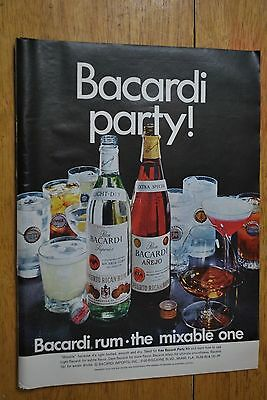 Bacardi Rum 1968 Playboy Magazine ad - Very Good