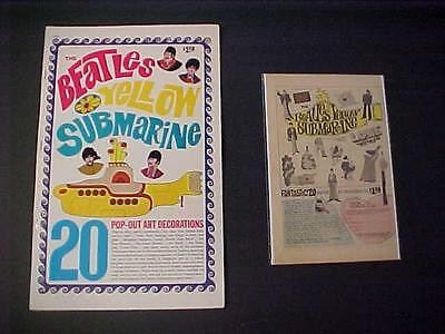 Vintage ~The Beatles~ Yellow Submarine Movie Pop-Out Book Unused + Ad Orig Rare