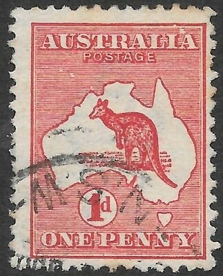 ROO'S   1d  RED    1st WATERMARK     DIE 1, R12, WHITE FLAW ABOVE IA