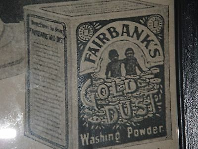 """Vintage Paper Advertising Print """" The Gold Dust Twins"""" Black Americana"""