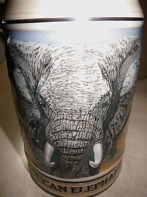 Vintage Budweiser Endangered Species Limited Edition 1989 African Elephant Stein