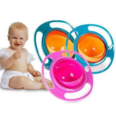 Baby Gyro Bowl Spill Resistant Gyroscopic Dishes Utensils Rotating