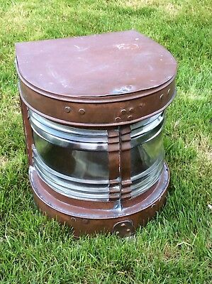 Antique Copper And Glass Ships Lantern Sold As Seen Ship Worldwide