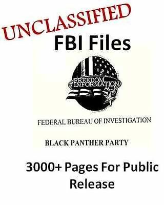 UNCLASSIFIED FBI FILE Black Panthers Party, 3000+ Research Documents,Black Power