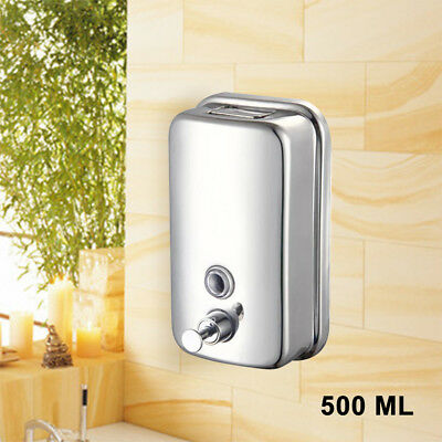 500ML Wall Mounted Soap Dispenser Toilet Shower Gel Shampoo Lotion Conditioner