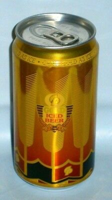 CP Gold Iced Beer Can Air Filled Ideal for home bar or collector Very Rare