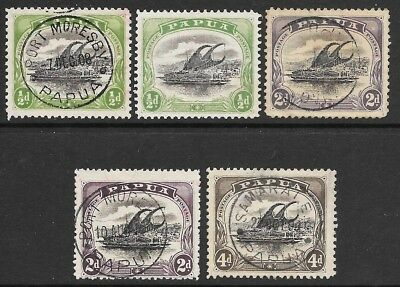 PNG   COLLECTION of 5 USED LAKATOI STAMPS  BARGAIN