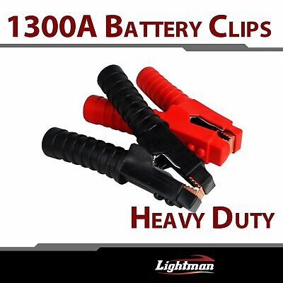 2x 4WD1300AMP battery clip cables Alligator clips Charger Clamp Quick Connect
