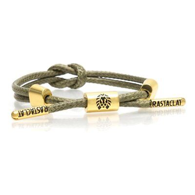 RASTACLAT Knotaclat Medallion Green Gold Wristband Bracelet Jewelry Knot NEW
