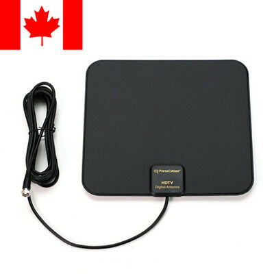 Super Thin Indoor Digital HD TV HDTV Antenna FM/VHF/UHF FREE TV Signals 50 Miles