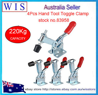 4pcs/PK 220Kg Toggle Clamps,Horizontal Bar w In-line Handle,Flanged Base-83958