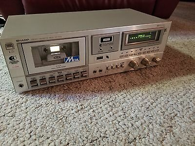 Sharp RT-1199 Stereo Cassette Deck Tested Works /Need Belt