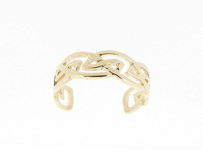 9ct Yellow Gold Celtic Design Toe Ring NEW Hand Finished Made in UK *RRP 49.99*