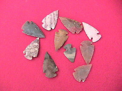 native american Indian stone arrowheads