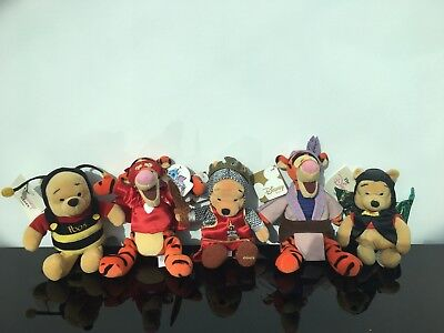 5 Disney Winnie The Pooh And Tigger Beanies With Tags