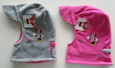 Minnie Mouse Winter-Fleece-Mütze grau-rosa, rosa-grau Disney Mädchen 54