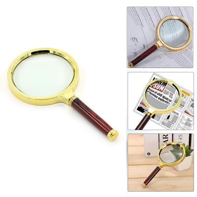 90mm 10X Magnifying Glass Handheld Jewelry Classic Magnifier Loop Loupe Reading
