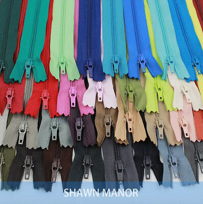 50PCS 3# 20CM Nylon Zippers For  Sewing work as garment accessories 30 Colors