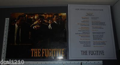 THE FUGITIVE Oscar Consideration Promo Booklet Harrison Ford & WITNESS Photos