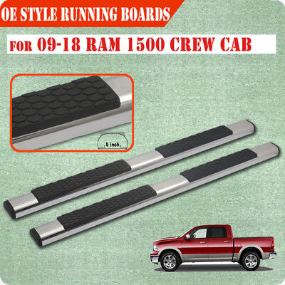 "Fit 09-18 Dodge Ram 1500 Crew Cab 5"" Running Board Nerf Bar Side Step S/S DA"
