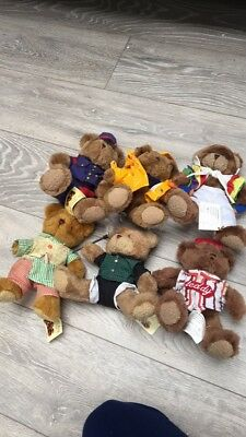 Teddy Bundle , The Teddy Bear Collection, 6 Teddys Dressed Up Differently
